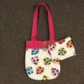 Colourful ladybugs handbag and purse