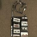 Retro cassettes cross-body bag
