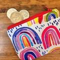 Coin purse - rainbows and sparkles