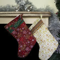 Red Snowflake Christmas Stocking, Christmas decor, holiday decor