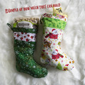 Cute Red Robin and Holly Christmas Stocking