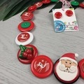 CHRISTMAS - Santa - Button Necklace and Earrings