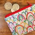 Coin purse - rainbows