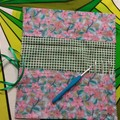 Crochet Hook Handy Wrap-Mosaic flower print #1
