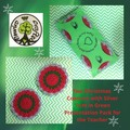 Two Christmas Coasters with Silver Trim in Green Presentation Pack for a Teacher