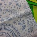 Crochet Hook Handy Wrap-Blue modern print REDUCED PRICE