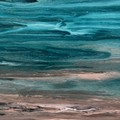 Original abstract coastal textured painting, Free Shipping Australia