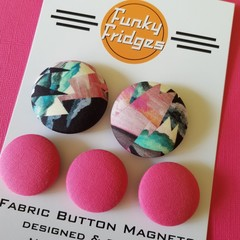 Liberty Pink Geometric Flat Magnet Set
