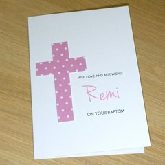 Girls Christening  Baptism  Naming Day First Communion Card -  Personalised