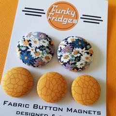 Liberty Mustard Floral Flat Magnet Set