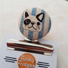 Black & White Bulldog Magnetic Bulldog Clip