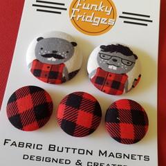 Bruce & Bob Flat Magnet Set