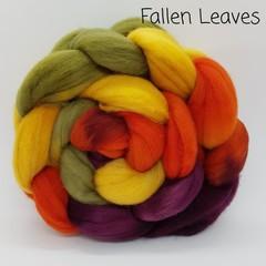 Hand Painted Wool Roving- FALLEN LEAVES