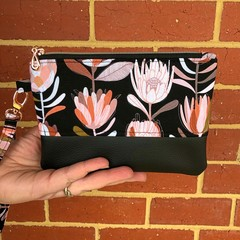 Protea - Regular Wristlet with leather accent