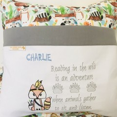 Reading Pillow Custom Order for Nicole