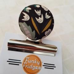Mustard & Navy Magnetic Bulldog Clip