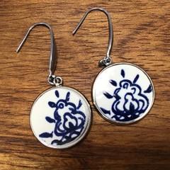 Dutch Blue Delft earrings