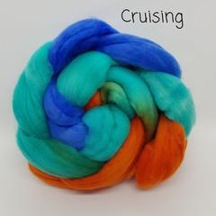 Hand Painted Wool Roving- CRUISING