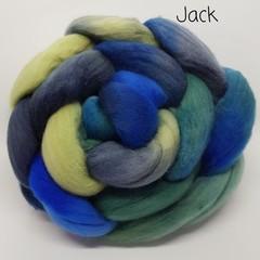 Hand Painted Wool Roving- JACK