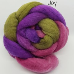Hand Painted Wool Roving- JOY