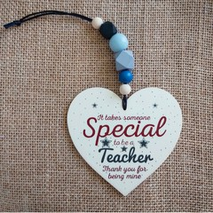 Wooden heart - teacher gift