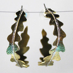 Bush Brass Hoop Earrings