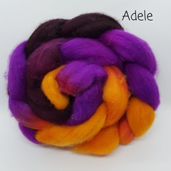 Hand Painted Wool Roving- ADELE