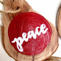 Wooden Christmas Ornaments Set of 6 RUSTIC
