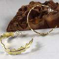 Bush Brass Hoop Earrings