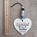 Wooden heart - teacher gift