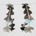 Ferny Silver Hoop Earrings
