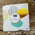 You are Beautiful Inspirational Card Christmas Card Lift Someone's Spirit