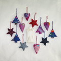 12 Felted Christmas Decorations And Angel Complimentary Christmas Gift #38