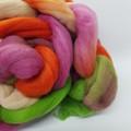 Hand Painted Wool Roving- KANGAROO PAW