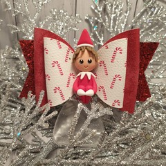 Elf on the shelf hair bow