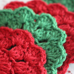 4 Christmas Crochet Coasters