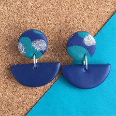 Teal Waves Earrings