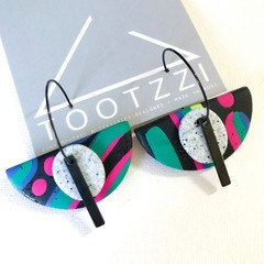 """Lets Go Disco"" 5-way Texture Hoops Semi - Pumice + Bar"