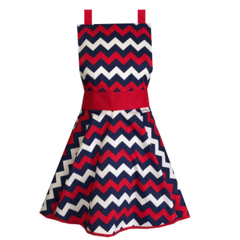 Zig Zag Retro Womens Kitchen Apron