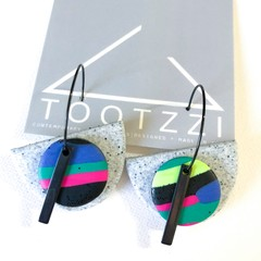 """Lets Go Disco"" 5-way Texture Hoops - Pumice + Bar"