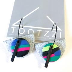 """Lets Go Disco"" 5-way Texture Hoops - Pumice + Bar"