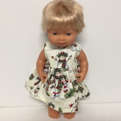 Miniland Dolls Christmas Dress to fit 38cm Dolls