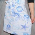 Beach Blue and White Womens Kitchen Apron - FREE Post!