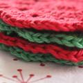 4 Christmas Crochet Coasters