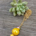 Lovely Yellow Beaded Necklace
