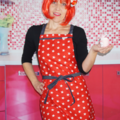 Red & White Star Womens Kitchen Apron