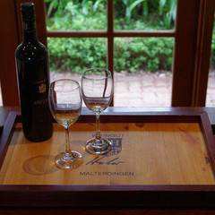 Classic Wine Panel Wooden Tray - Weingut Hubert. A unique gift!