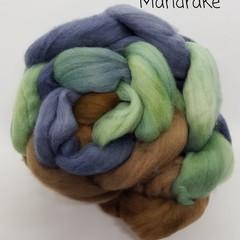 Hand Painted Wool Roving- MANDRAKE