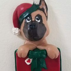 German Shepard Christmas Ornament
