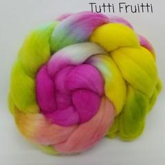 Hand Painted Wool Roving- TUTTI FRUITTI